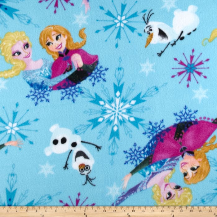 Disney Frozen Fleece Sisters Ice Skating Badge Toss