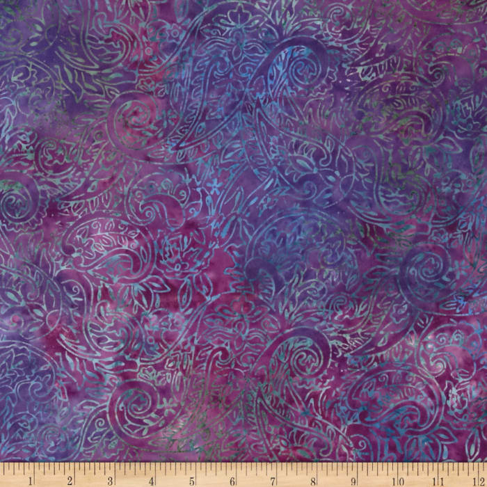 Jinny Beyer Malaam Batiks Fountain Paisley Purple