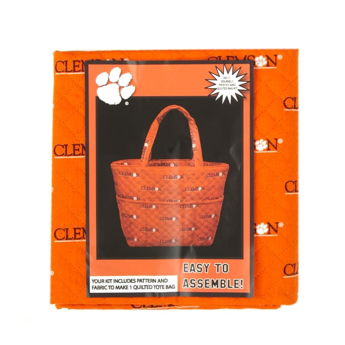 Collegiate Quilted Tote Clemson University
