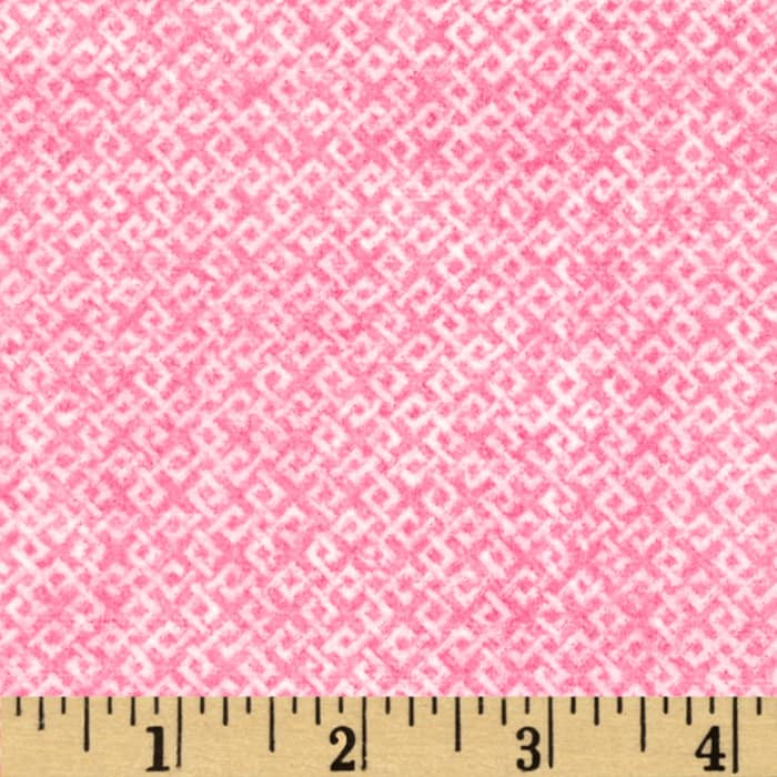 Criss Cross Flannel Pink