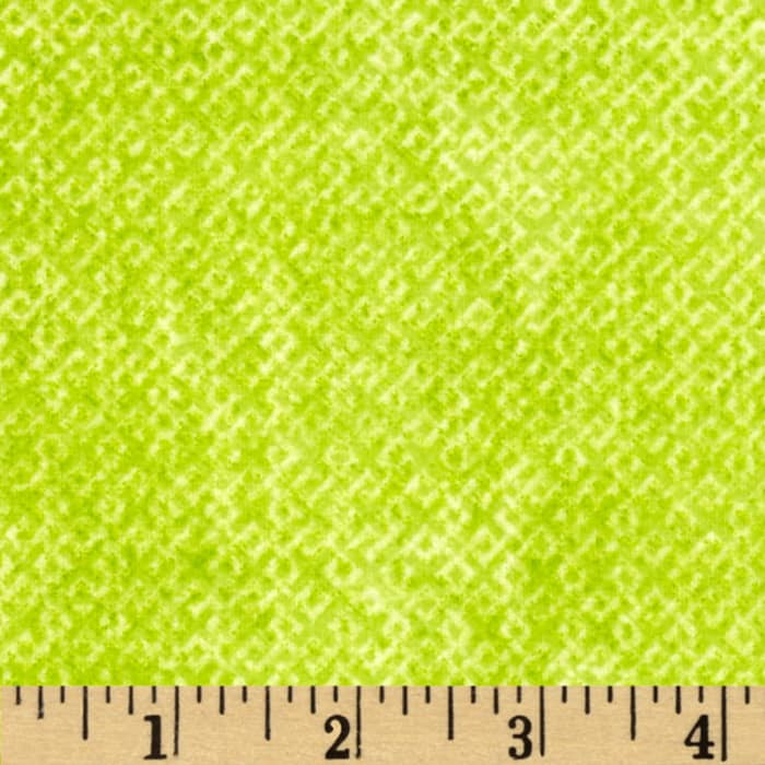 Criss Cross Flannel Lime