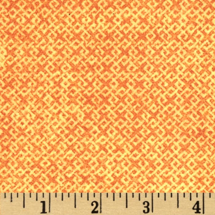 Criss Cross Flannel Orange