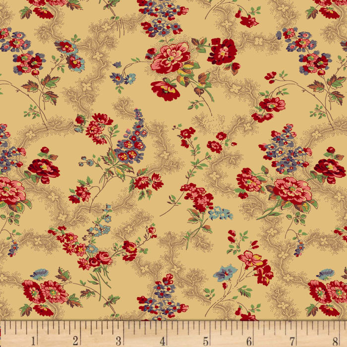 Moly B's 1800's Victoria's Violet Bouquet Red/Tan
