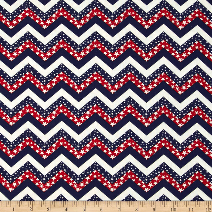 Made in the USA Chevron & Stars Red,