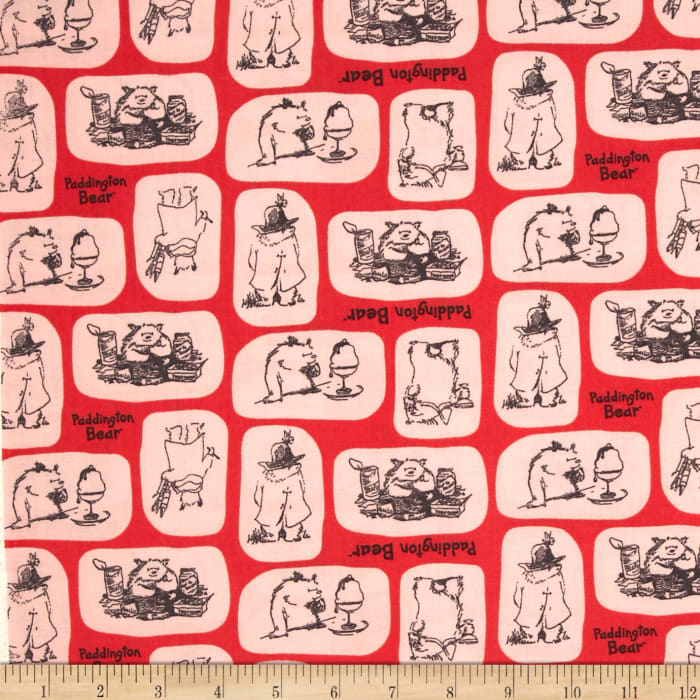 Paddington Bear Tiles in Red