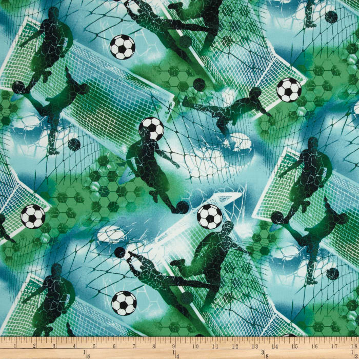 Sports Soccer Boy Soccer Blue & Green