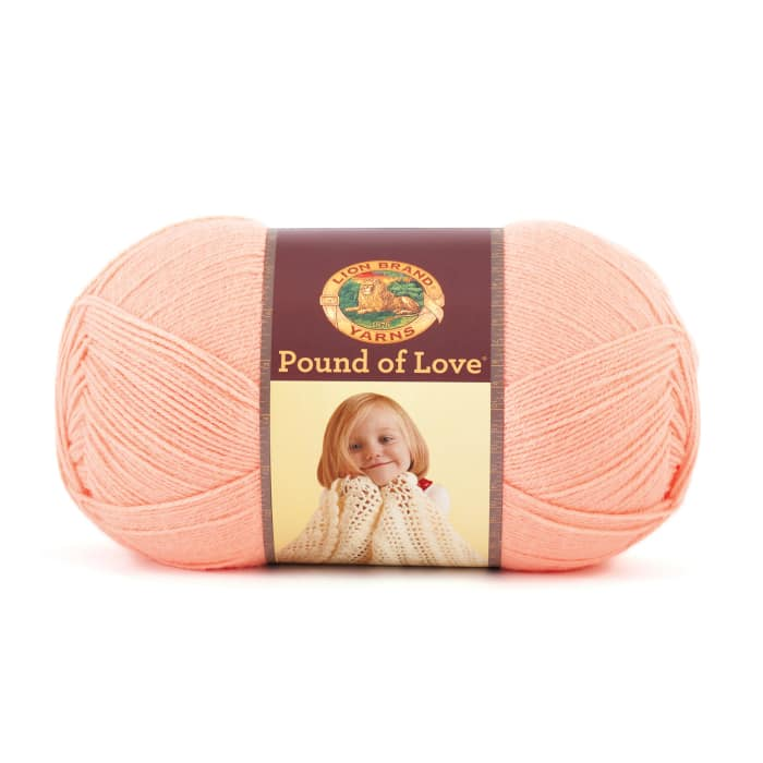 Lion Brand Yarn Pound of Love Creamsicle