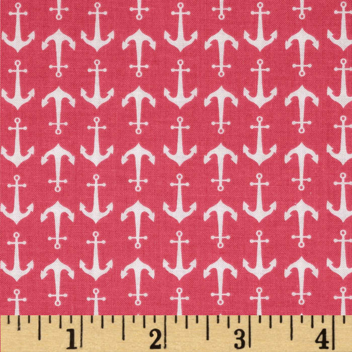 Riley Blake Anchor Hot Pink