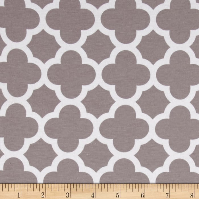 Riley Blake Quatrefoil Knit Gray