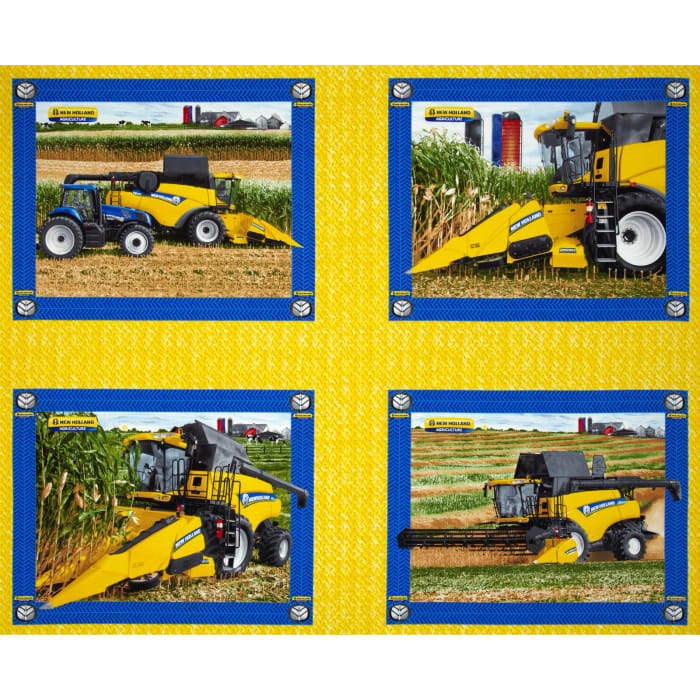 New Holland Combine Pillow Panel