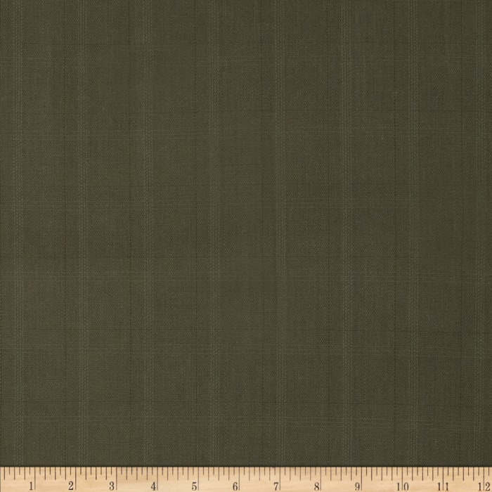 Stretch Yarn Dyed Suiting Subtle Plaid Brown/Green