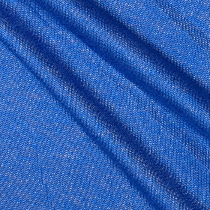 Tissue Shimmer Rayon Jersey Knit Blue