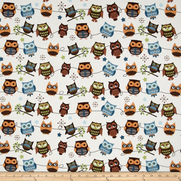 Riley Blake Home Decor Hoot Roll Call Cream