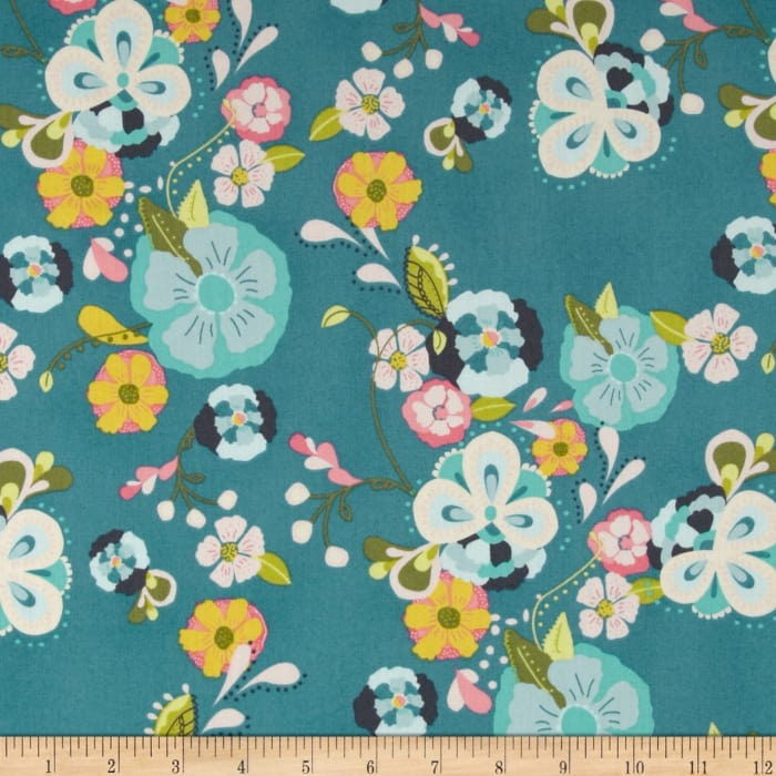 Art Gallery Emmy Grace Voile Floral Floats Fresh