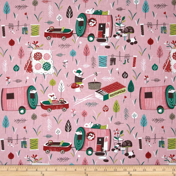Mouse Camp Campers Pink
