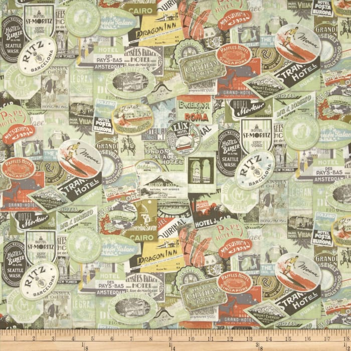 Transportation Travel Fabric Fabric By The Yard Fabriccom - Paris map fabric