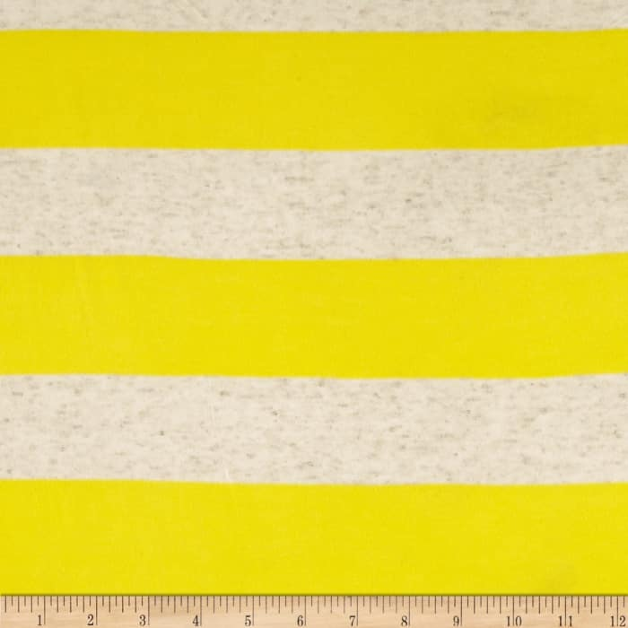 Yarn Dyed Jersey Knit Wide Stripe Natural/Yellow