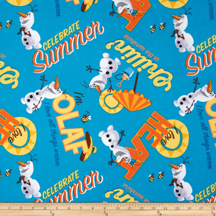 Disney Frozen Olaf Celebrate Summer Allover Dark Blue