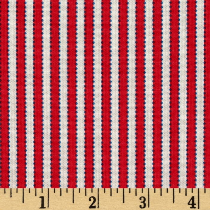 Boy's Circa 1930's Dotted Stripe Red