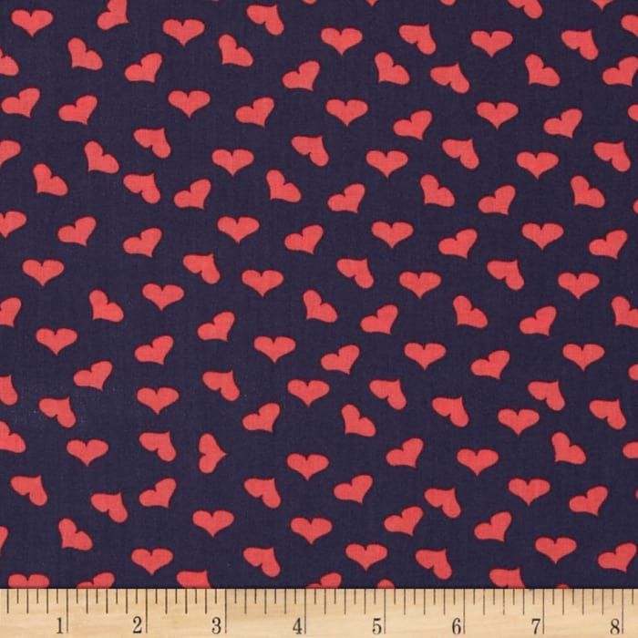 Dear Stella French Lessons Tossed Hearts Navy