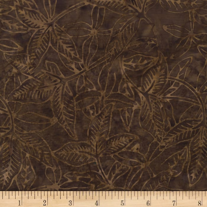 Timeless Treasures Tonga Batik Spice Market Tropic Leaf Bark