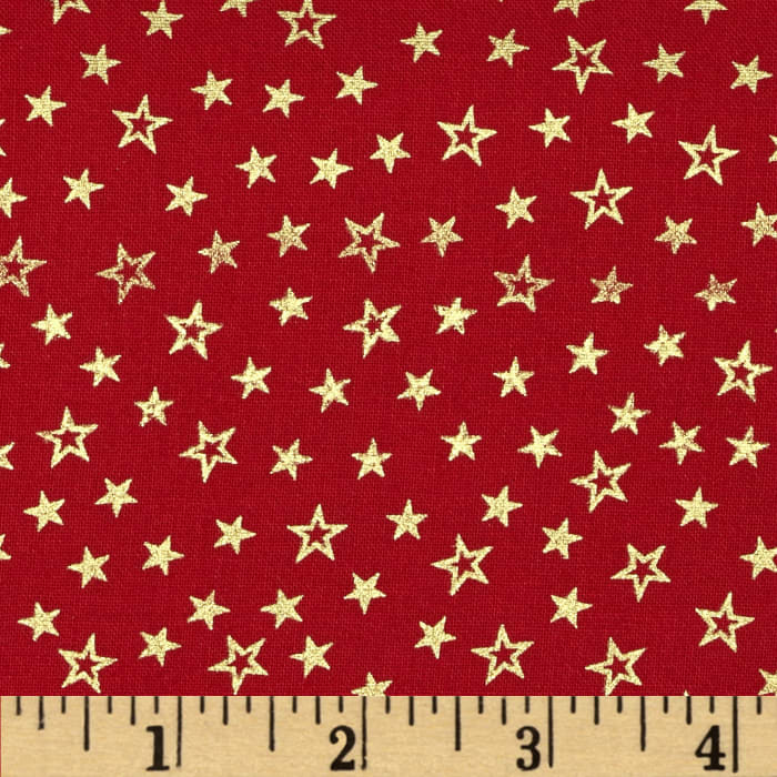 Pearle Gold Stars Red/Gold Pearl