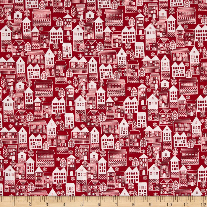 Winter Essentials III Winter Village Red