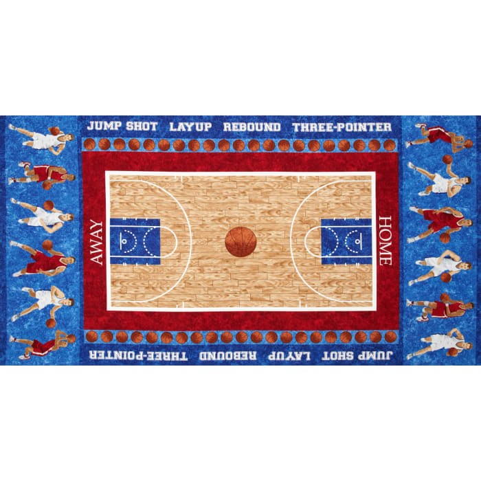 Stonehenge Kids Hoops Basketball Players 24 In. Panel Blue