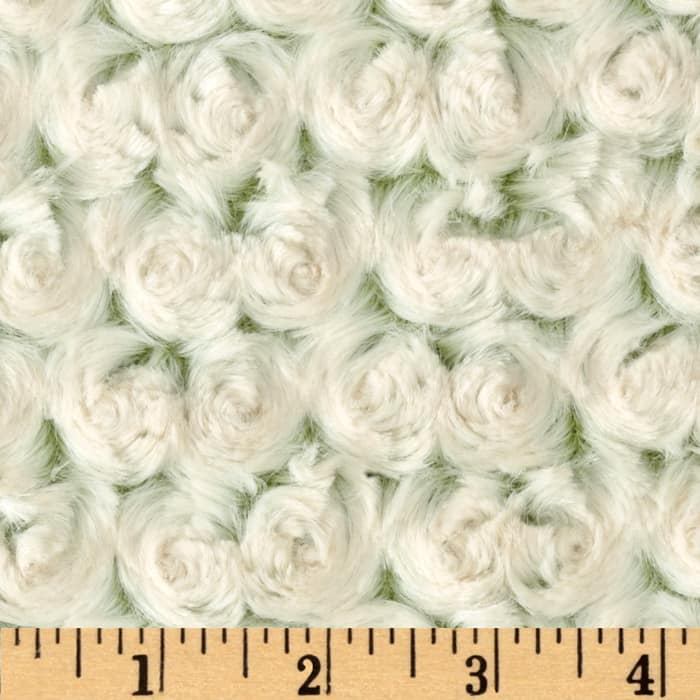 Shannon Minky Frosted Rose Cuddle Olive/Beige