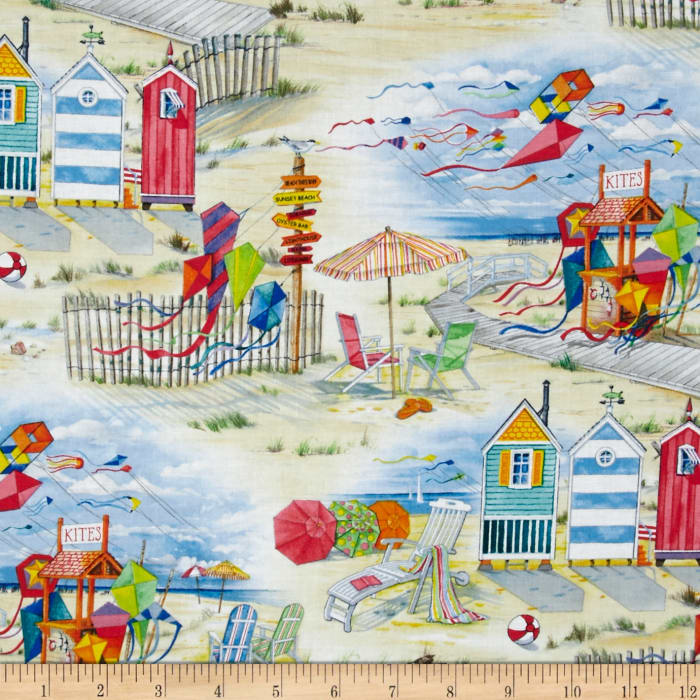 Nautical fabric beach fabric fabric by the yard for Train themed fabric