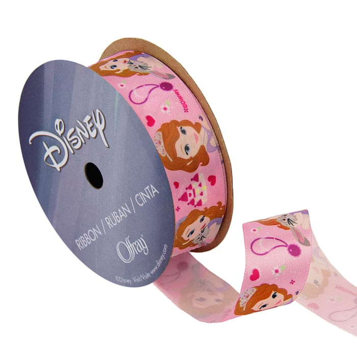 """7/8"""" Sofia The First Ribbon Castle Pink"""