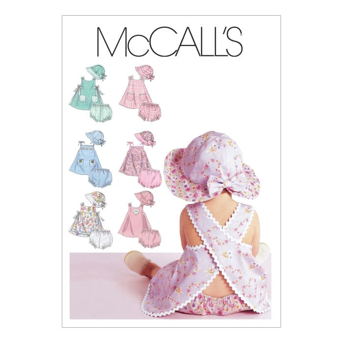 McCall's Infants' Dresses, Panties and Hat Pattern M6303