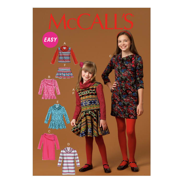 McCall's Children's/Girls' Top, Dress and Pants Pattern M7009 Size CCE