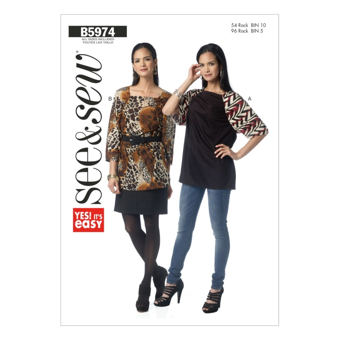Butterick Misses' Top Pattern B5974 Size 0A0