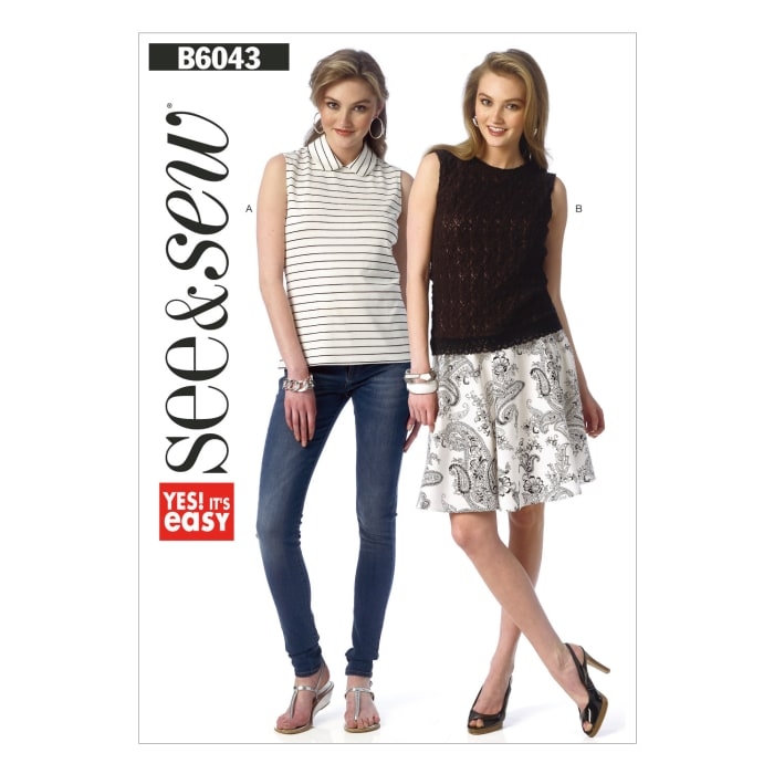 Butterick Misses' Top Pattern B6043 Size 0A0