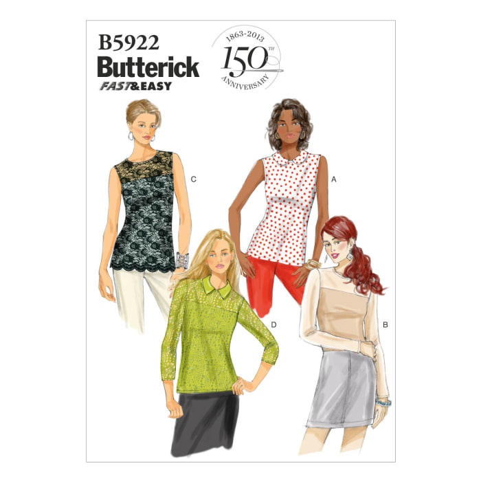 Butterick Misses' Top Pattern B5922 Size A50