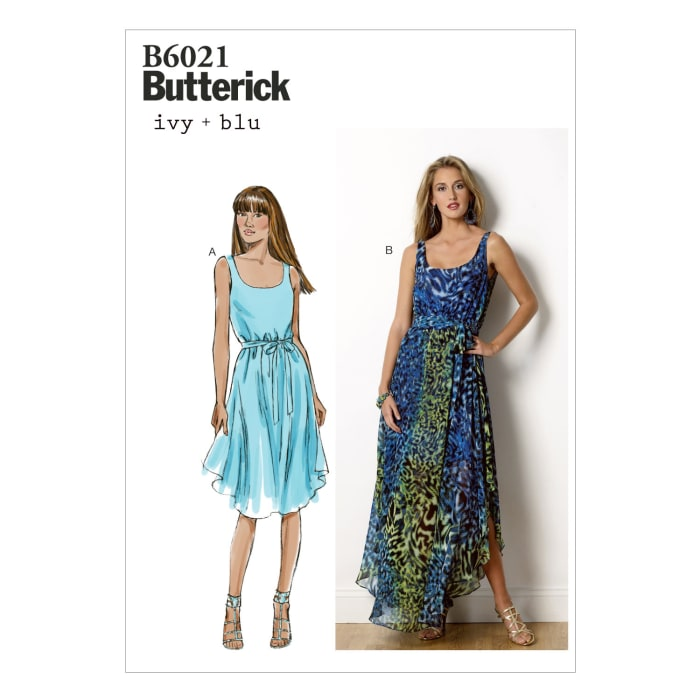 Butterick Misses' Dress and Belt Pattern B6021 Size B50