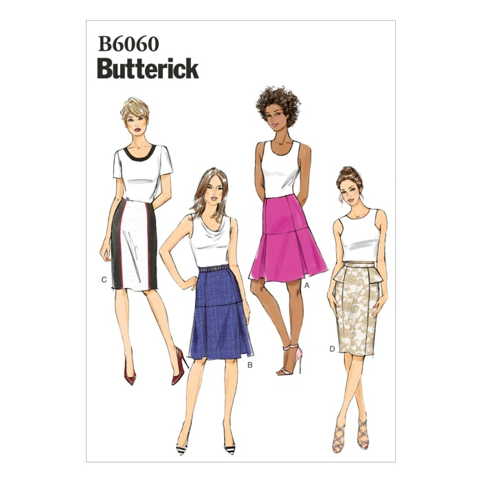 Butterick Misses' Skirt Pattern B6060 Size A50