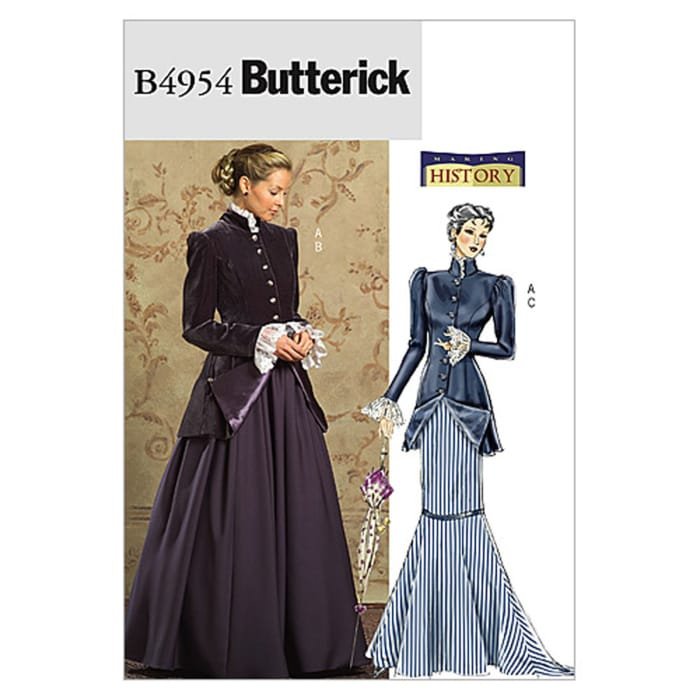 Butterick Misses'/Misses' Petite Early 20Th Century Costume Pattern B4954 Size BB0