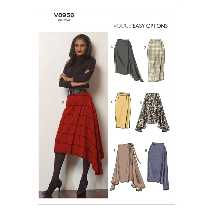 Vogue Misses' Skirt Pattern V8956 Size A50