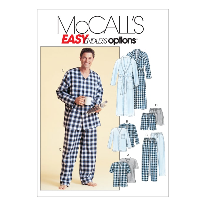 McCall's Men's Robe, Belt, Tops, Pants and Shorts