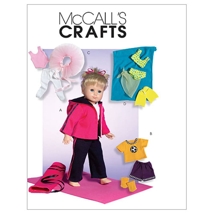 """McCall's 18"""" Doll Clothes Pattern M4896 Size OSZ"""
