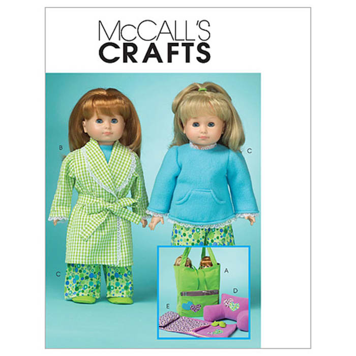 """McCall's 18"""" Doll Clothes and Accessories Pattern M5019 Size OSZ"""