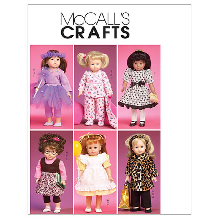 """McCall's Clothes and Accessories for 18"""" Doll Pattern M6005 Size OSZ"""