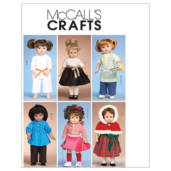 """McCall's Clothes for 18"""" Doll Pattern M6006 Size OSZ"""