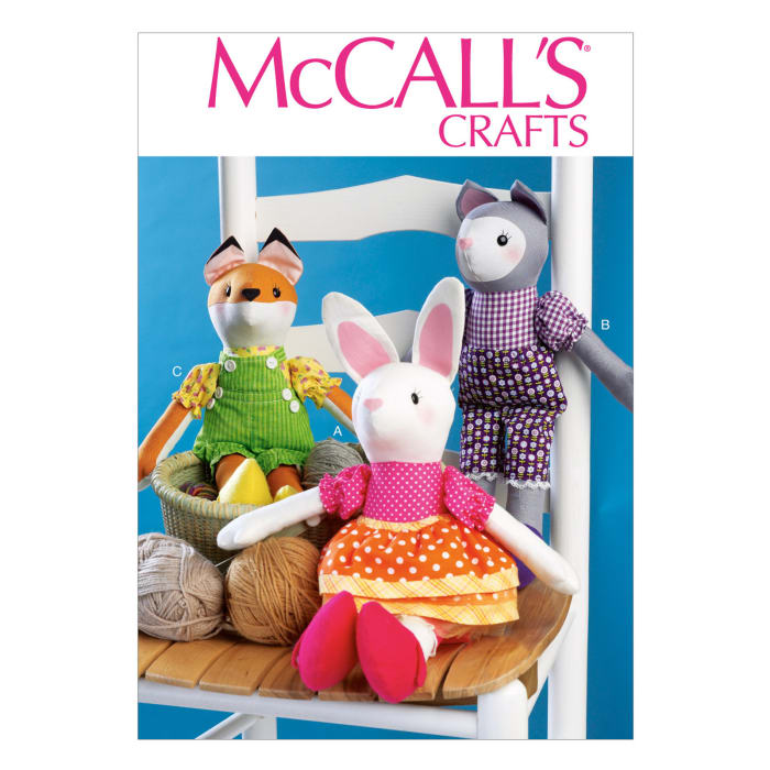 McCall's Bunny, Cat and Fox Dolls Pattern M7032 Size OSZ