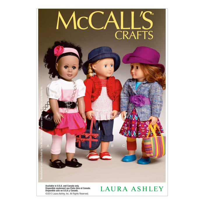 """McCall's Clothes and Accessories For 18"""" Doll Pattern M6764 Size OSZ"""