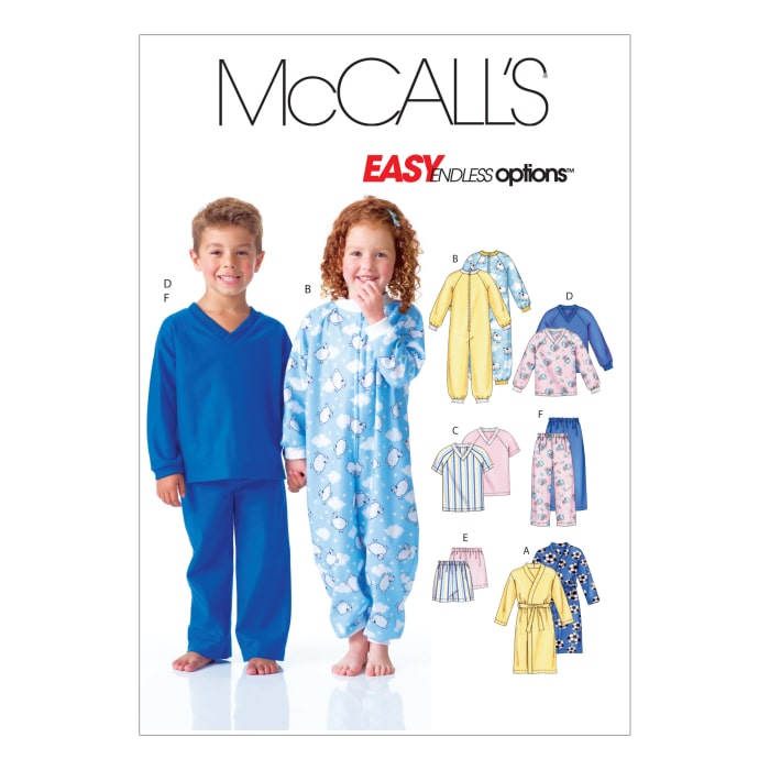 McCall's Children's Robe, Top, Shorts and Pants Pattern