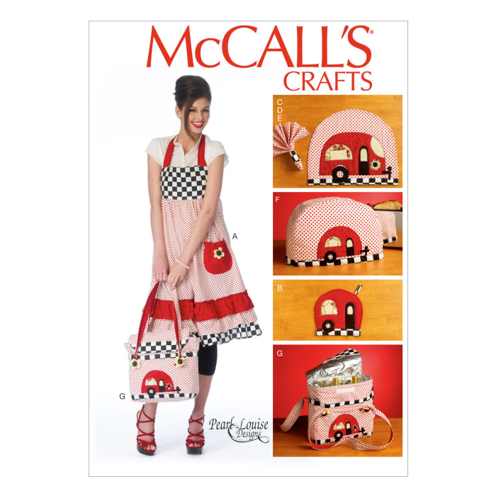 McCall's Apron, Potholders, Napkins, Toaster Cover and Insulated Soft Cooler Pattern M6935 Size OSZ