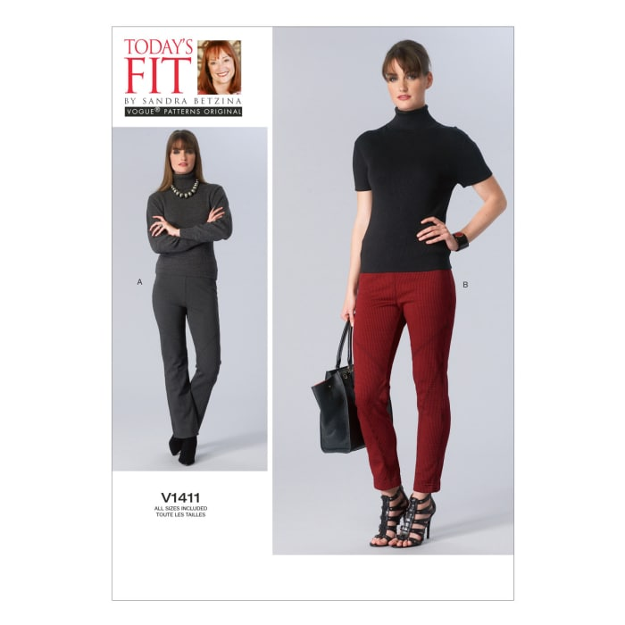 Vogue Misses' Pants Pattern V1411 Size OSZ